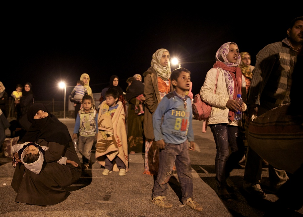 New refugees from Syria arrive to Jordan.