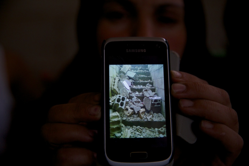 A picture from home, on the phone of a Syrian refugee now living in Jordan.
