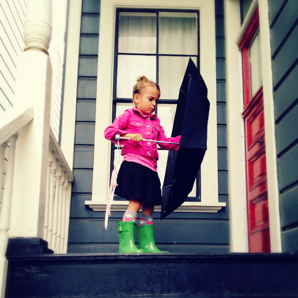 SF had a little rain this weekend... it was very exciting to take out the umbrellas and rain boots. ;)