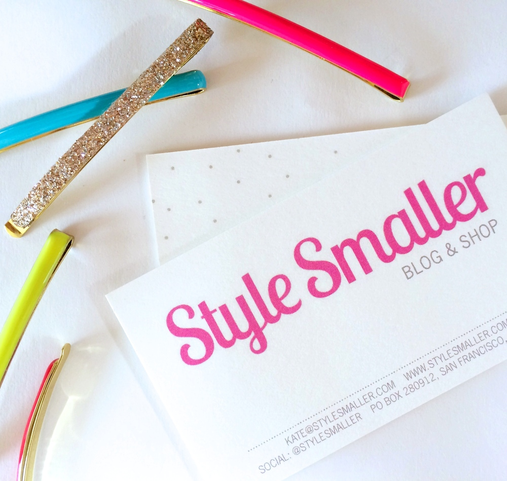 Business Cards c/o  Minted  | Bobbi Pins are available in  My Shop
