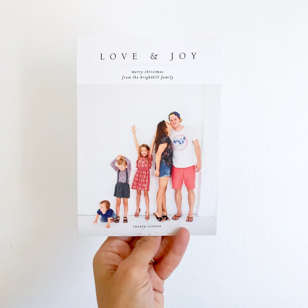 """Minimal Joy"" Christmas Card, Minted"