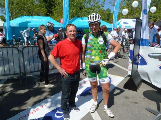 Christian Jean, l'organisateur et Vincent Hurstel, le patrouilleur!