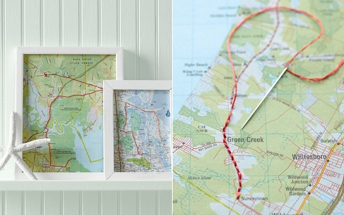 Martha Stewart Map Frames