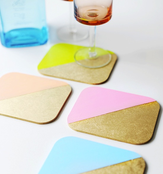 Painted Wood Coasters