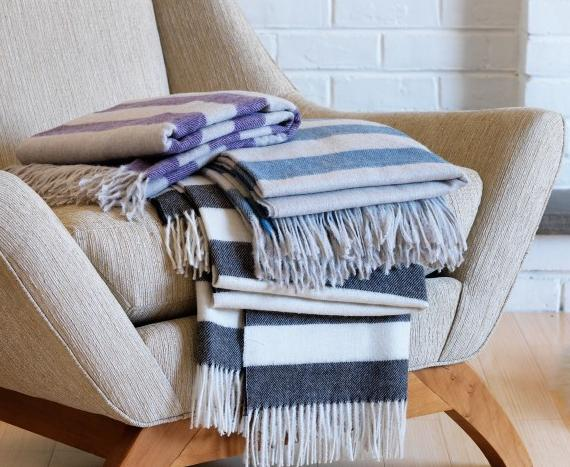 Draper Stripe Throw Dwell