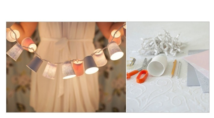 Paper Cup Garland