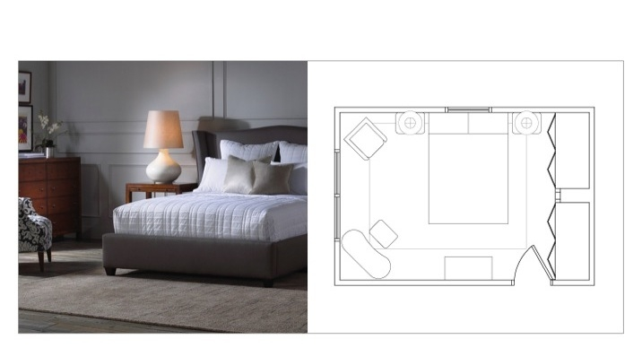 Bedroom Plan. DESIGN 101  FURNITURE LAYOUTS   MASTER BEDROOM    Regan