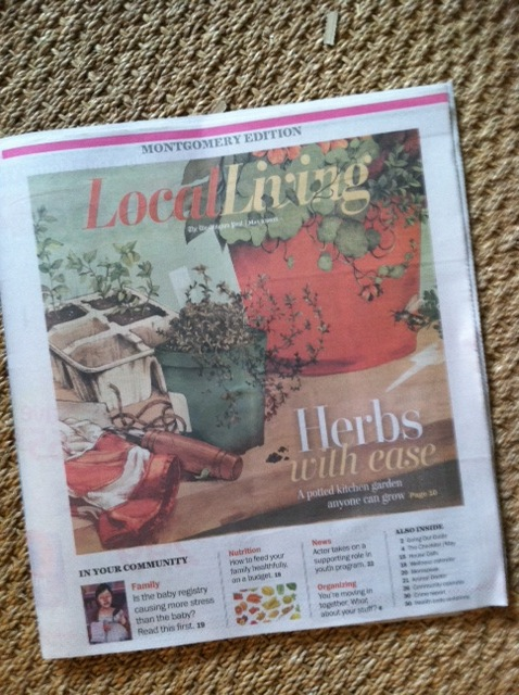 The Washington Post,  Local Living , May 2, 2013