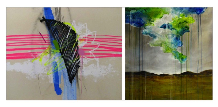 Quen,  Inked II ; Taylor,  Sonoran Storm ; both pieces available through  Merritt Gallery