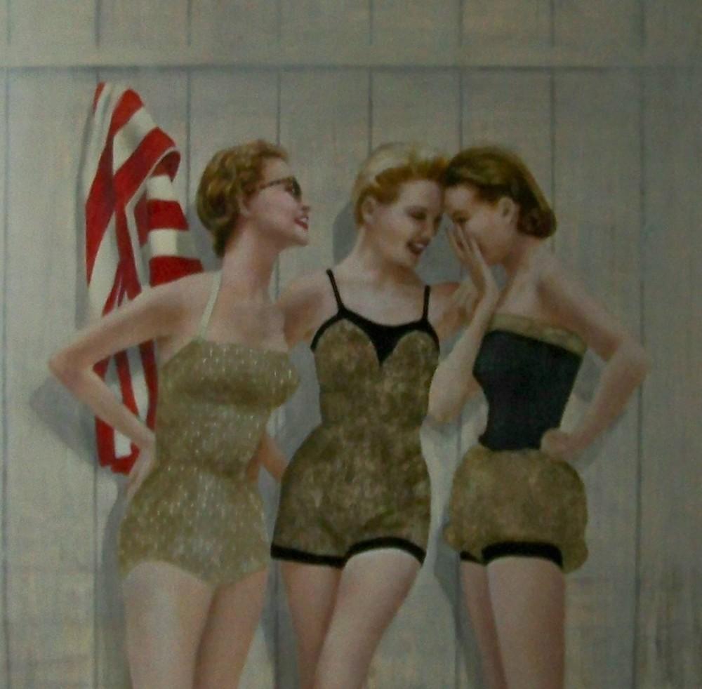 Ladies at the Beach,by Elise Remender