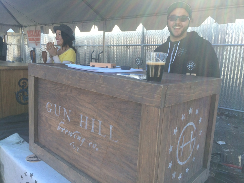 Gun Hill with their Oatmeal Stout. Tasty