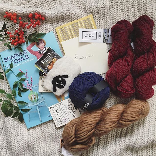 Perfection! I don't think @cc.renee could've done a better job with my @fibreshare box. A million thanks for your thoughtful picks and sweet letter. #fibreshare #yarn #yarnaddict #yarnporn #blueskyalpacas #fiber #fiberart