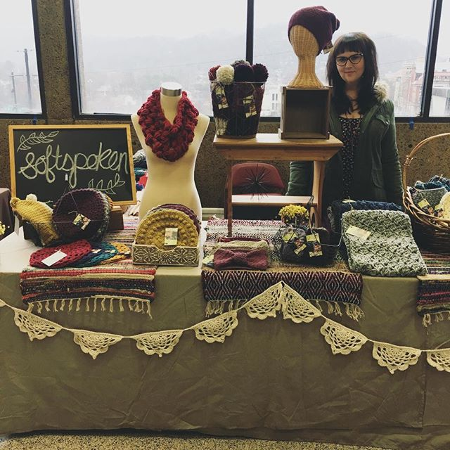 📸 while setting up at the Big Crafty. #thebigcrafty #crochet #craftshow #handmade #handcrafted #crochetlove #makersmovement #madebyhand #diy #fiberart #fiberartist