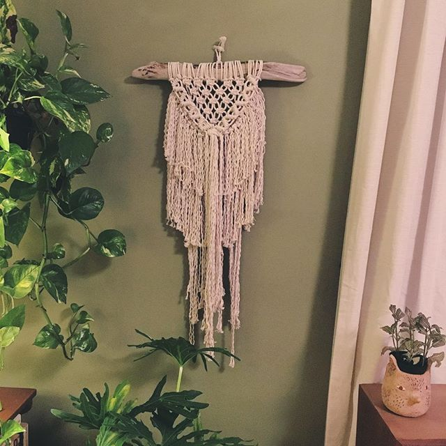 Excited to share some of my purchases and trades from the last two weekends of shows. Starting with this macrame beauty from @fiberandthreads at the #bigcrafty
