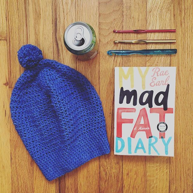Hoping I'll have time to catch up on my reading over the holidays. Looking forward to a break! #crochet #handmade #crochetlove #handcrafted #diy #crochetaddict #crochetgirlgang #fiberart #fiberartist #crocheting #makersgonnamake #maker #makers #beanie #makersmovement #slouchybeanie #madfatdiary #raeearl #lacroix #crafts #crafter #reading #book #librarybook