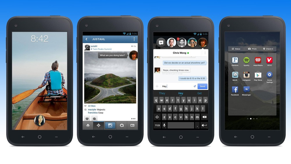 Facebook Home image from Mashable