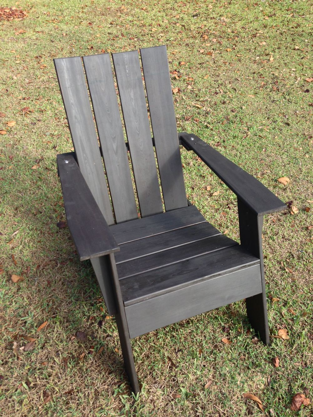Modern Adirondack Chair - Black