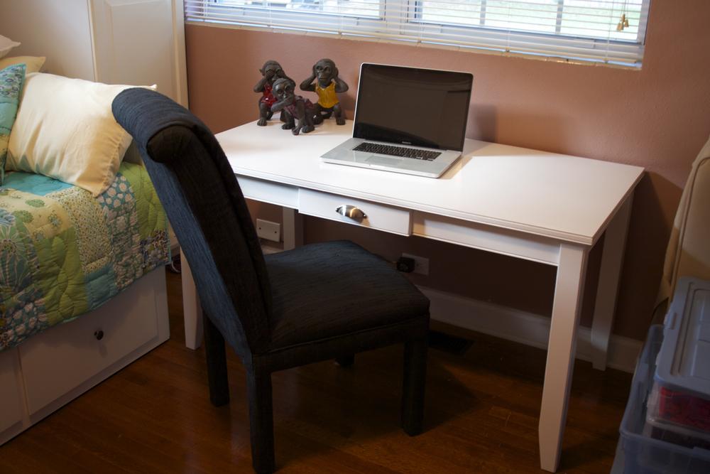Custom Built White Desk - Pottery Barn Design