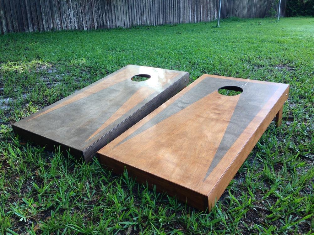 Custom Built Cornhole boards