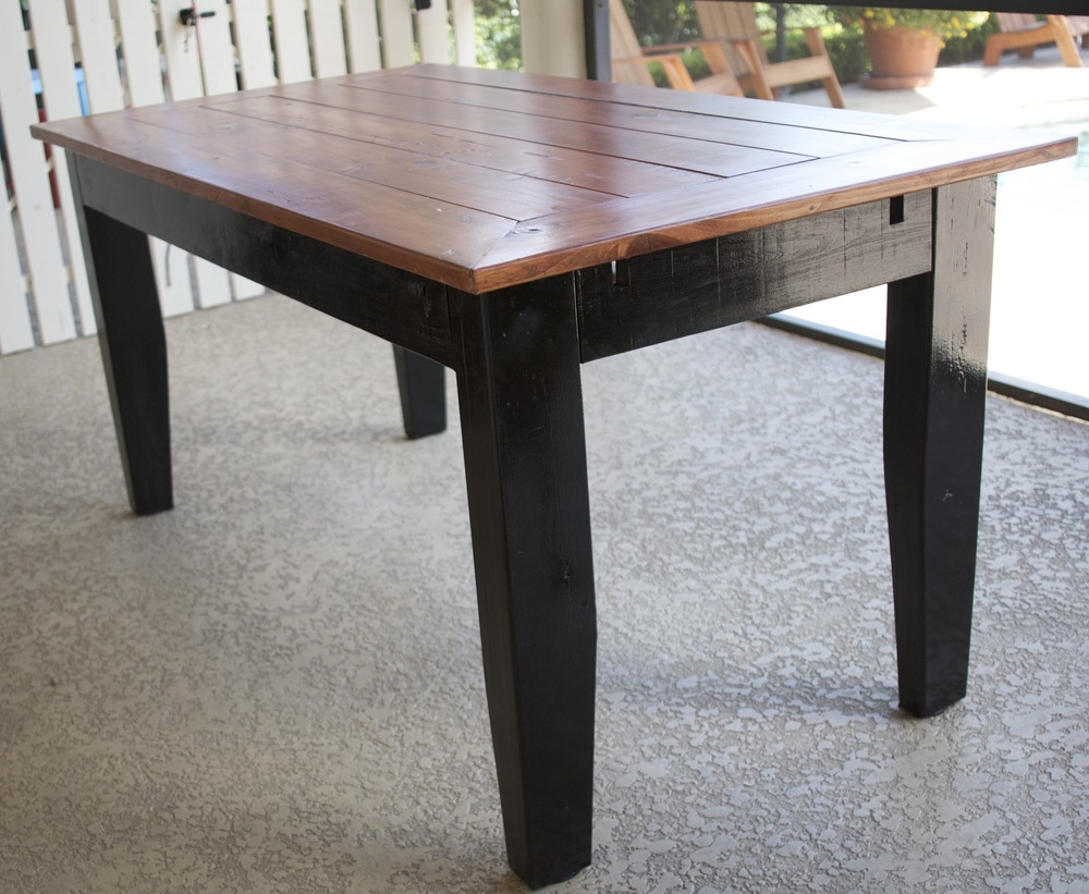 Custom Cypress Wood Table