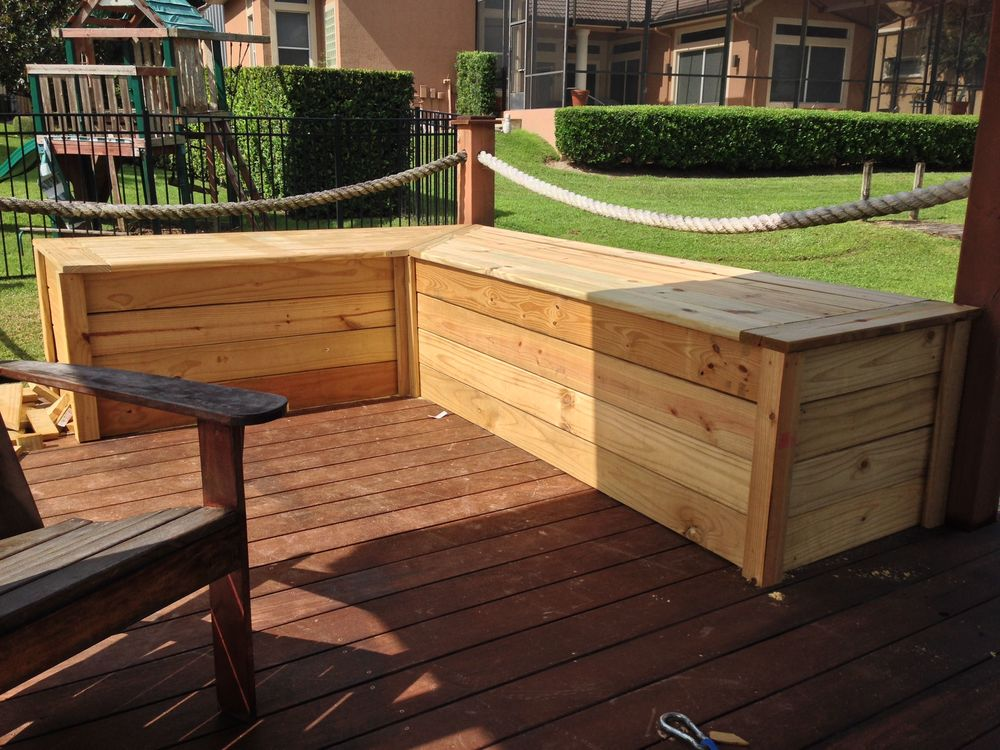 Custom Built Dock Box with Seating