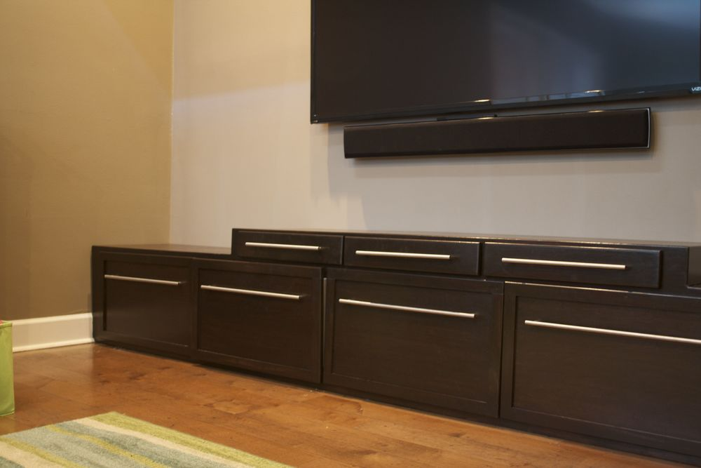 Custom Built Entertainment Center with Storage