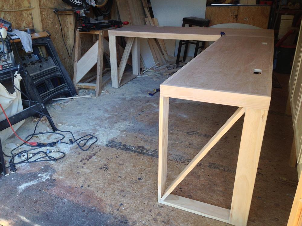 Custom Built L-Shaped Desk