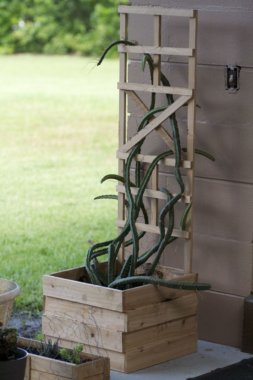 Cypress Wood Lattice Planter