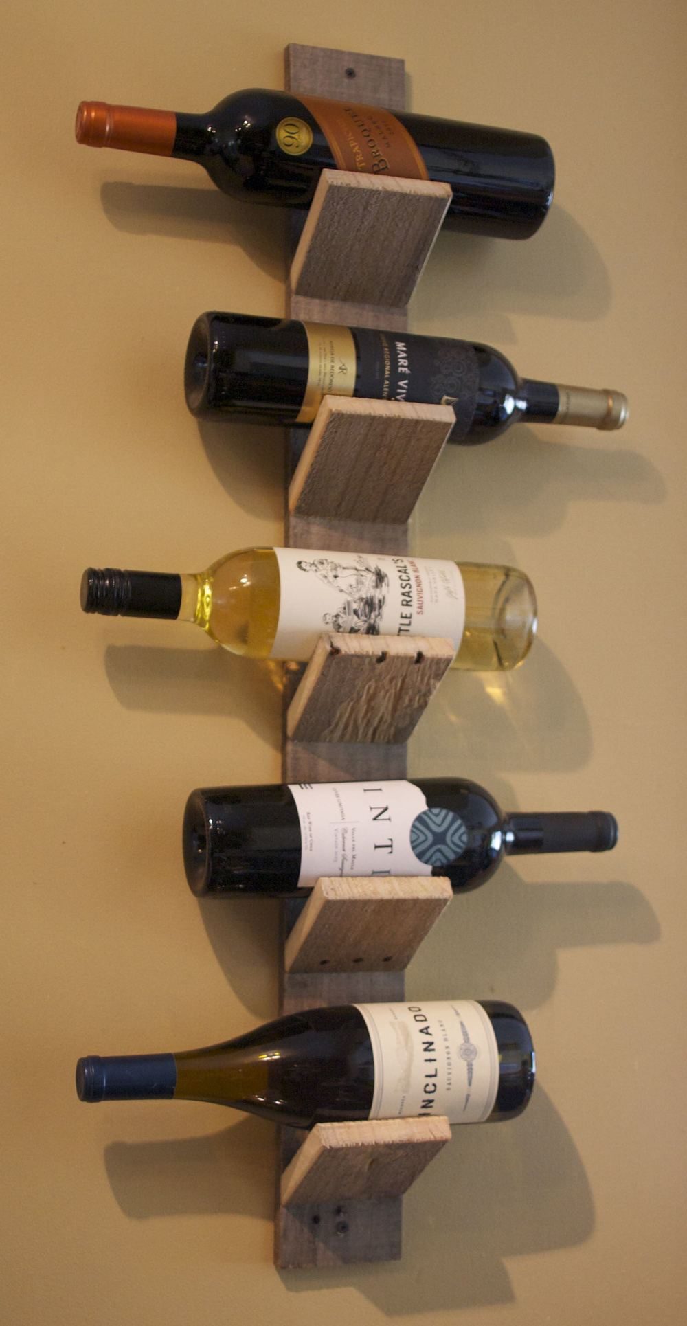 5 Bottle Pallet Wood Wine Holder