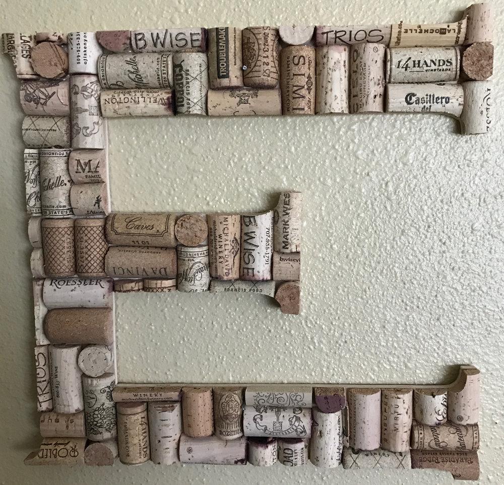 Cork Letter E