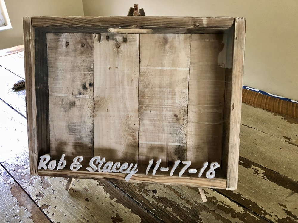 Custom Wedding Cork Holder - Pallet Wood
