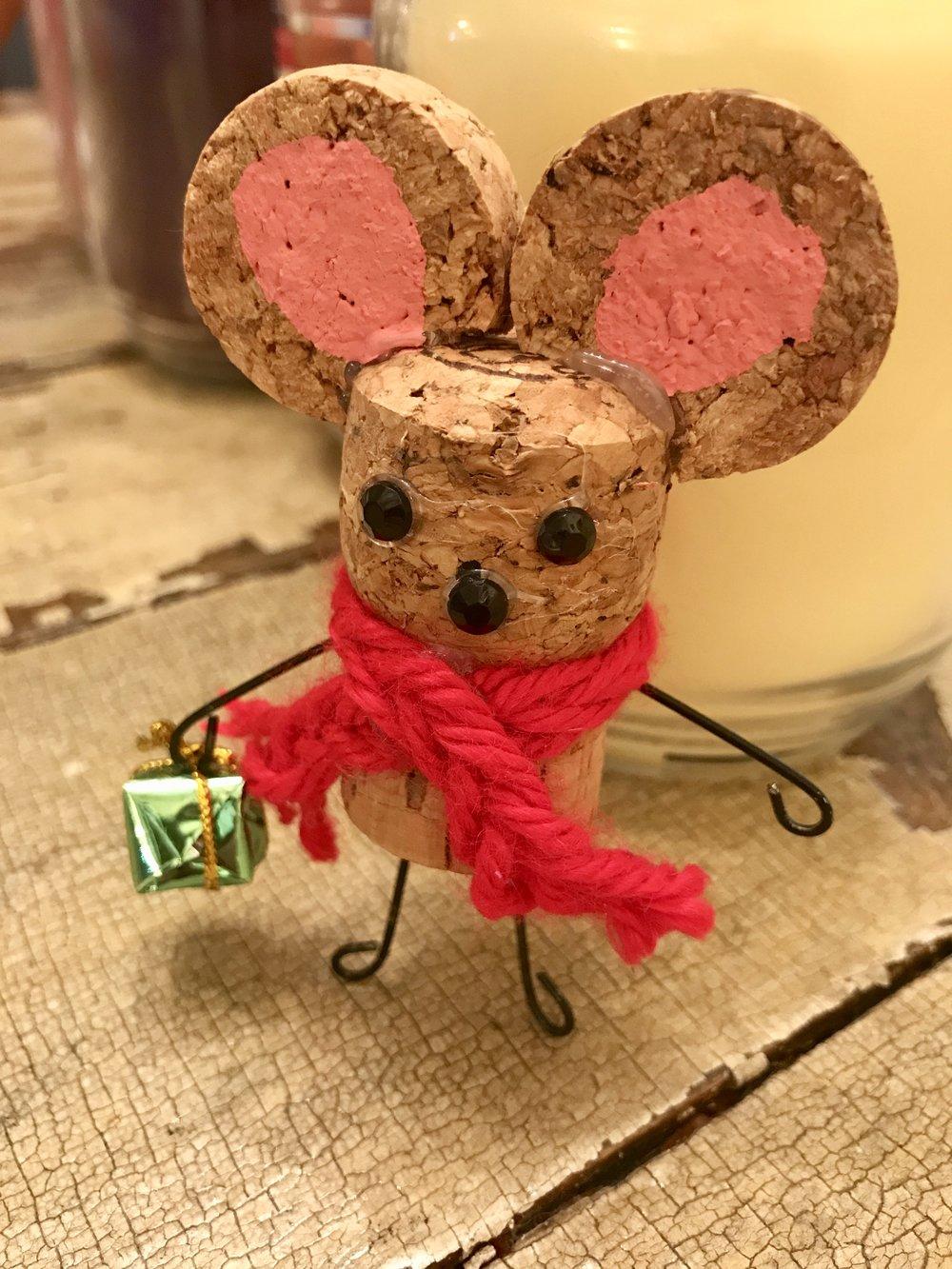 Mouse Cork Ornament