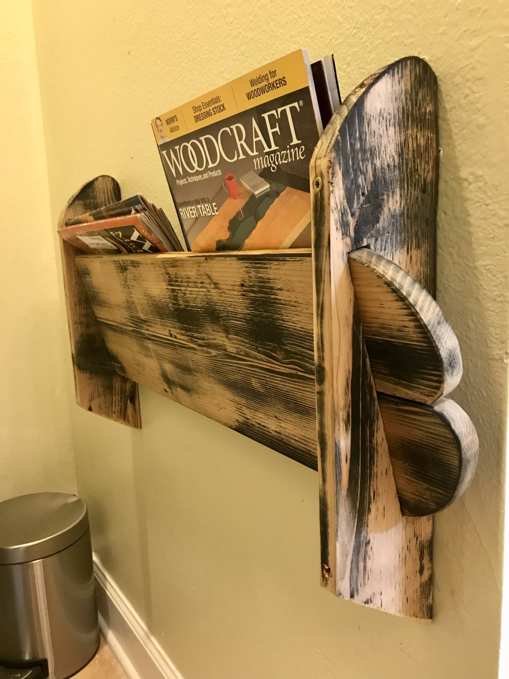 Upcycled magazine holder - Pallet Wood