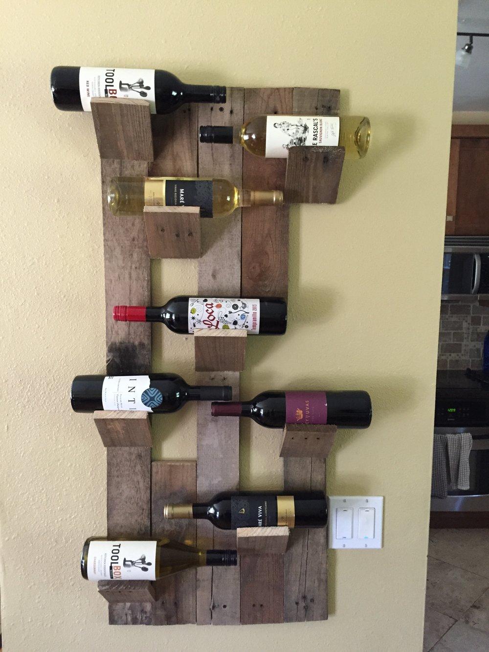 8 Bottle Wine Holder - Pallet Wood