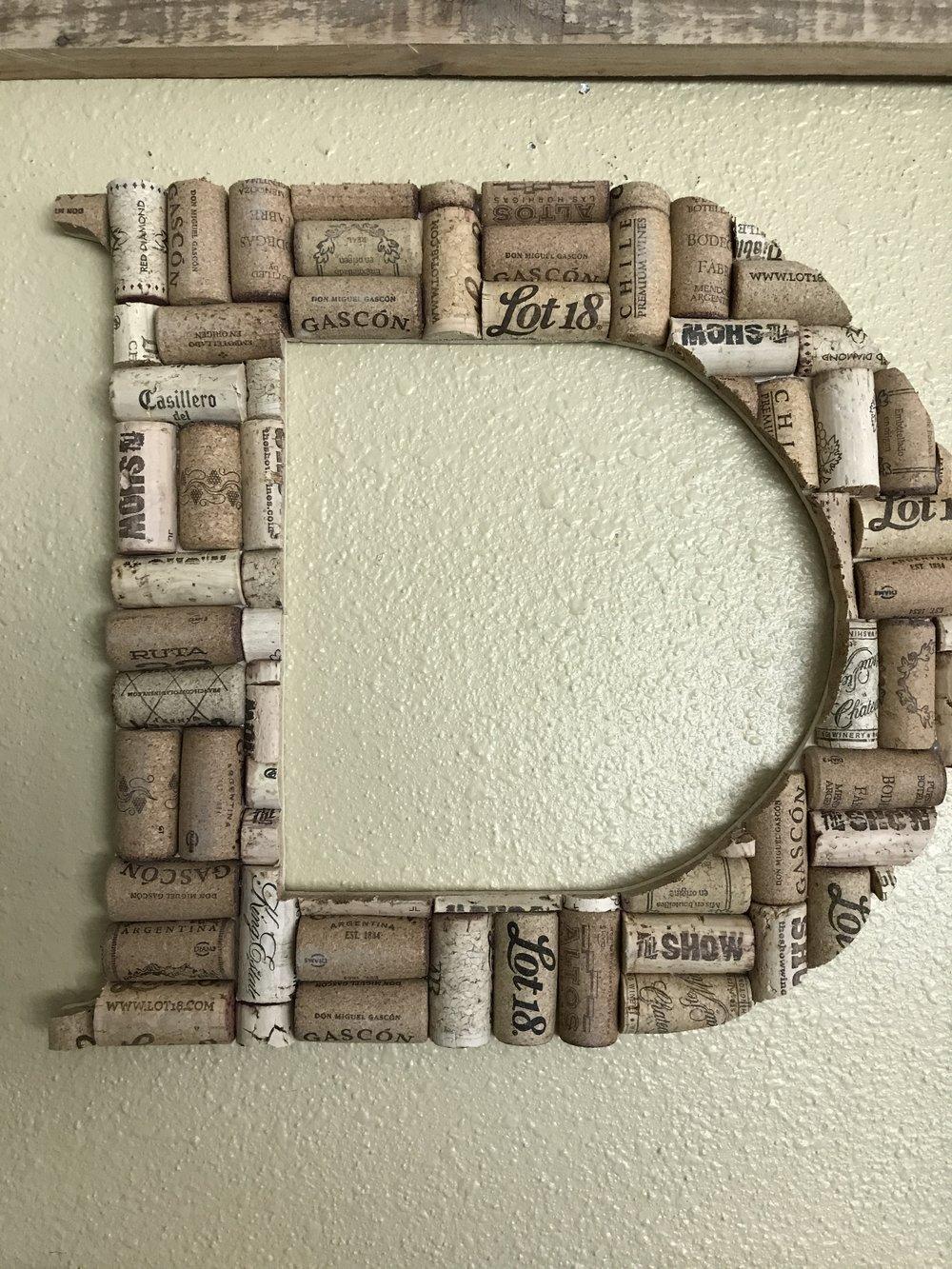 Cork Letter - D