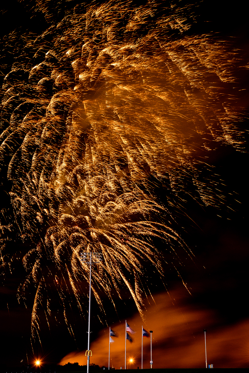 Fireworks at the Stormchaser's Game - 2012