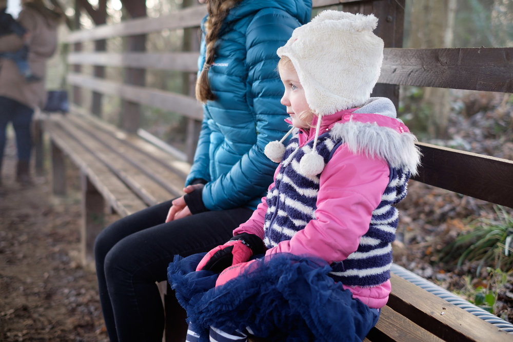 And finally - we took our Goddaughter for a Christmas trip to see some reindeer. This is definitely in here for personal reasons, but I really like this photo of the girls sat quietly waiting for the deer to come!