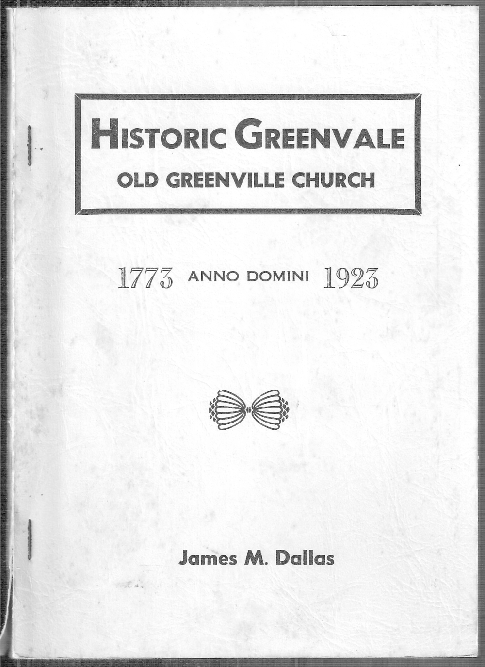 Cover of GPC History by Rev. J.M. Dallas.png
