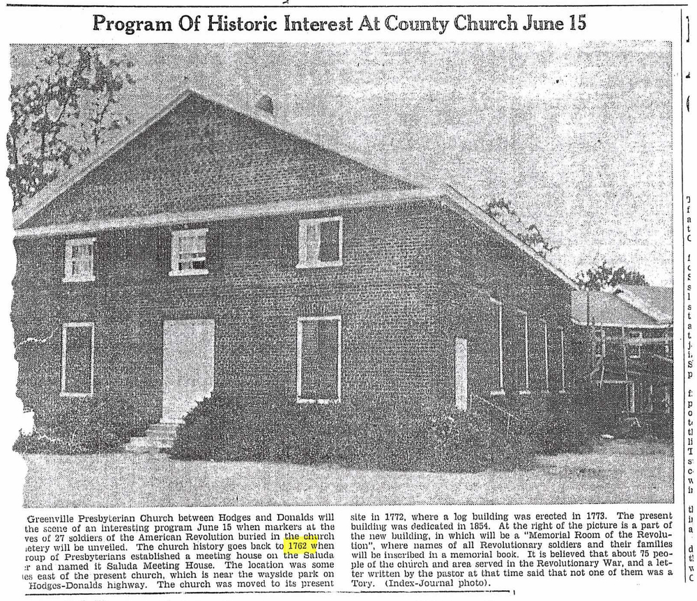 Program of Historic Interest At County Church June 15, Index Journal June 2, 1952.jpg
