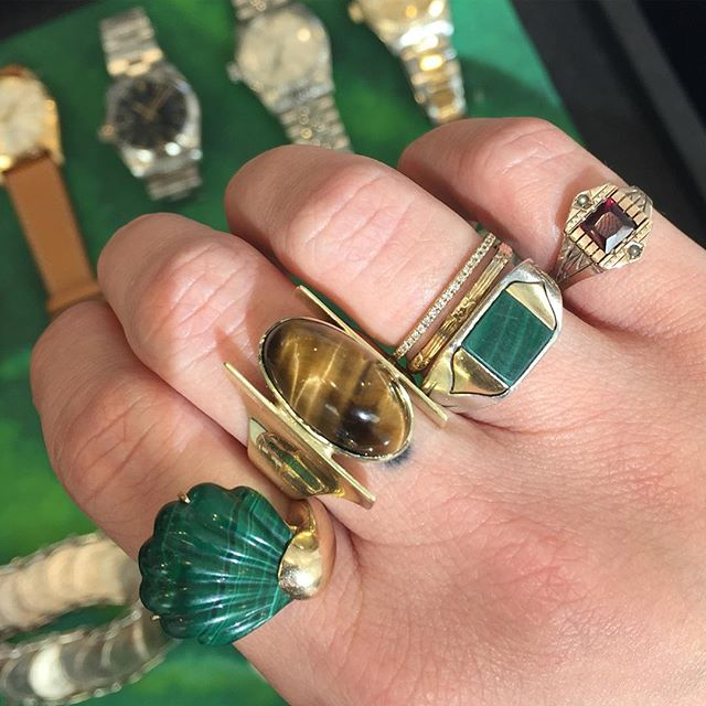 Green means GO...to @acurrentaffair THIS WEEKEND! We will have new jewels, our largest collection of vintage Rolex, and a curated collection from @gemgossip ! Link for tickets in bio. See you there!!!