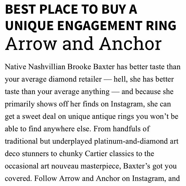 "Thanks Nashville // @nashvillescene ! What an amazing honor! Check out all of the amazing local businesses that made the ""best of"" list. This is so cool! 💓"