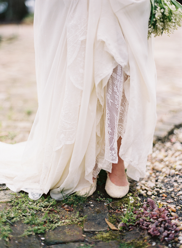 Silk Lace Custom Wedding Gown Dress Shoes Lily