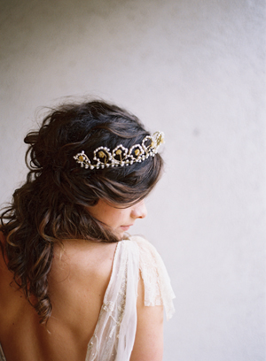 half-up-half-down-soft-curls-wedding-hairstyle-open-back-lace-flutter-sleeve-vintage-tiara-scallops-wax-bud-1920s.jpg