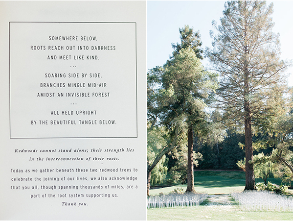 joy-thigpen-napa-wedding-design-gather-co-redwoods-ceremony-aisle-beatwoven-poem-program