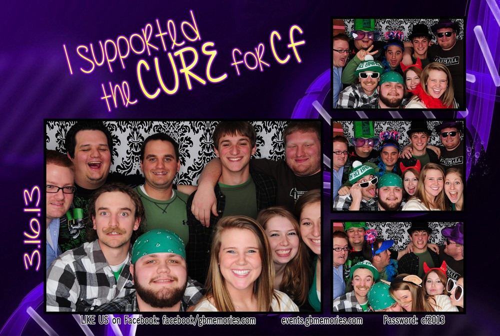 Here is my crew from college that helped support the cure!