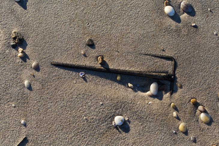 Hook in Sand