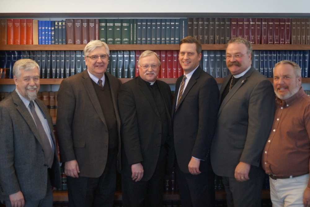 Speaker Daudt, pictured third from the right, hosted the LCMS delegation.