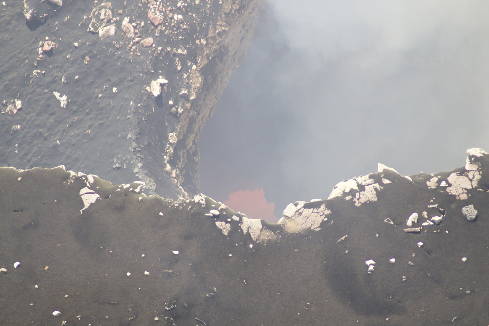 Visible magma at Santiago Volcano