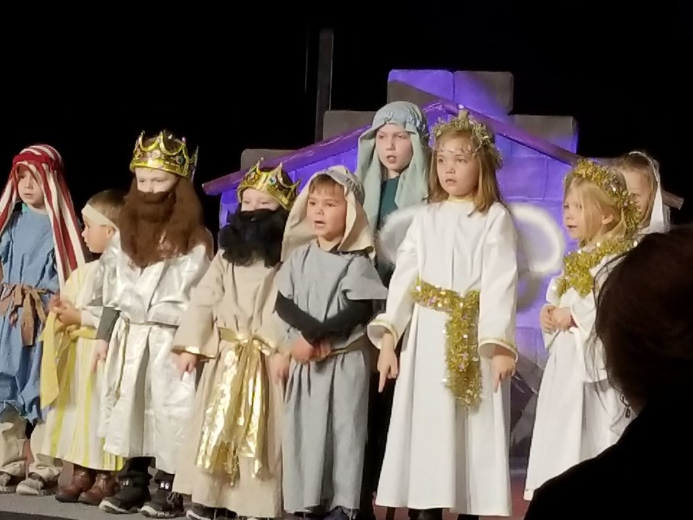 Children at Woodbury Lutheran Church's Liberty Ridge campus act out the Christmas story.