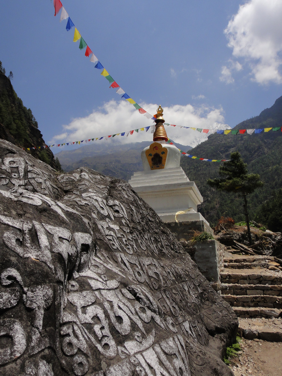 Buddhist Stupa en route to Everest Base Camp (Nepal)